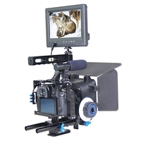 DHL Бесплатная yelangu Профессиональный DSLR плеча Видео Камера стабилизатор клетка/Матовая коробка/Приборы непрерывного изменения фокусировки