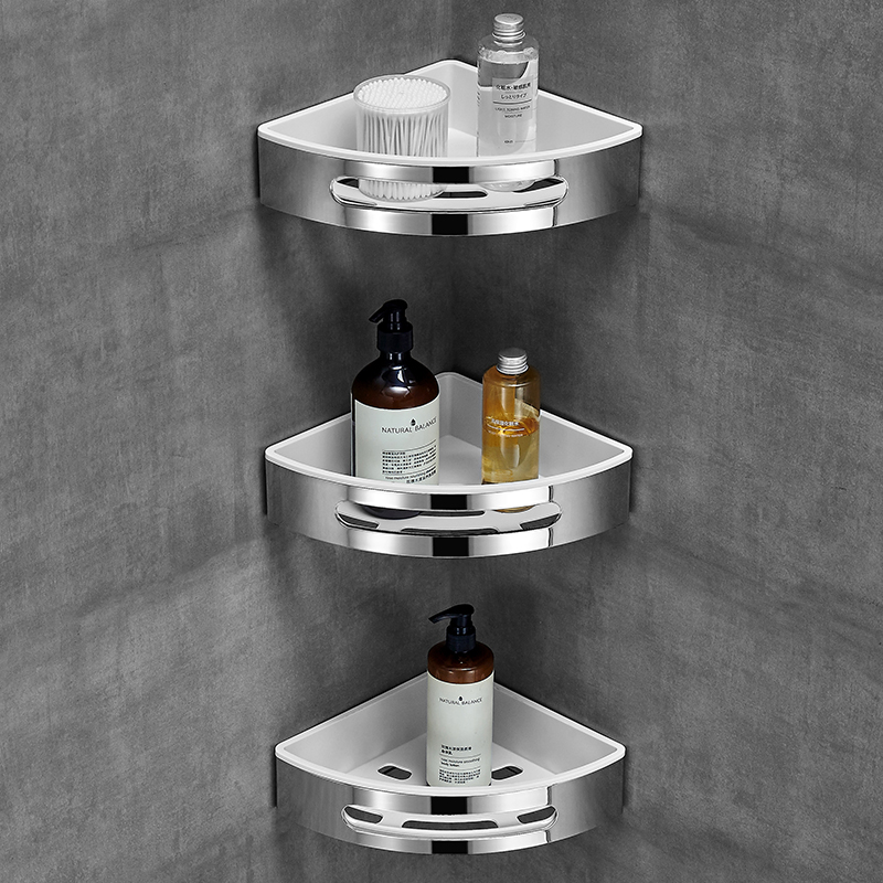 Badkamer plank wc vanity driehoek plank zuig muur type non geperforeerde muur hanger - 5