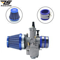 ZS Racing Motorcycle PWK 21 24 26 28 30 32 34mm Carburetor + Air Filter + Intake Manifold Boot Holder For ATV Scooter Racing