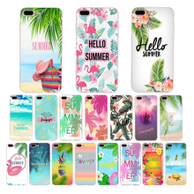 Soft silicone phone case for iphone x xs xr xsmax 8 7 6s 6 plus 5s se 5 HELLO SUMMER Cartoon new design TPU mobile cover shell