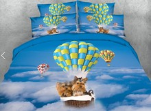 Dogs Dog Bedding set Luxury 3D quilt duvet cover Cotton bed sheets sheet linen Super King Queen size full twin bed in a bag 4PCS 100%cotton adult kids bedding set fashion casual bedding sets bed linen quilt duvet cover bed sheet for king queen twin bed