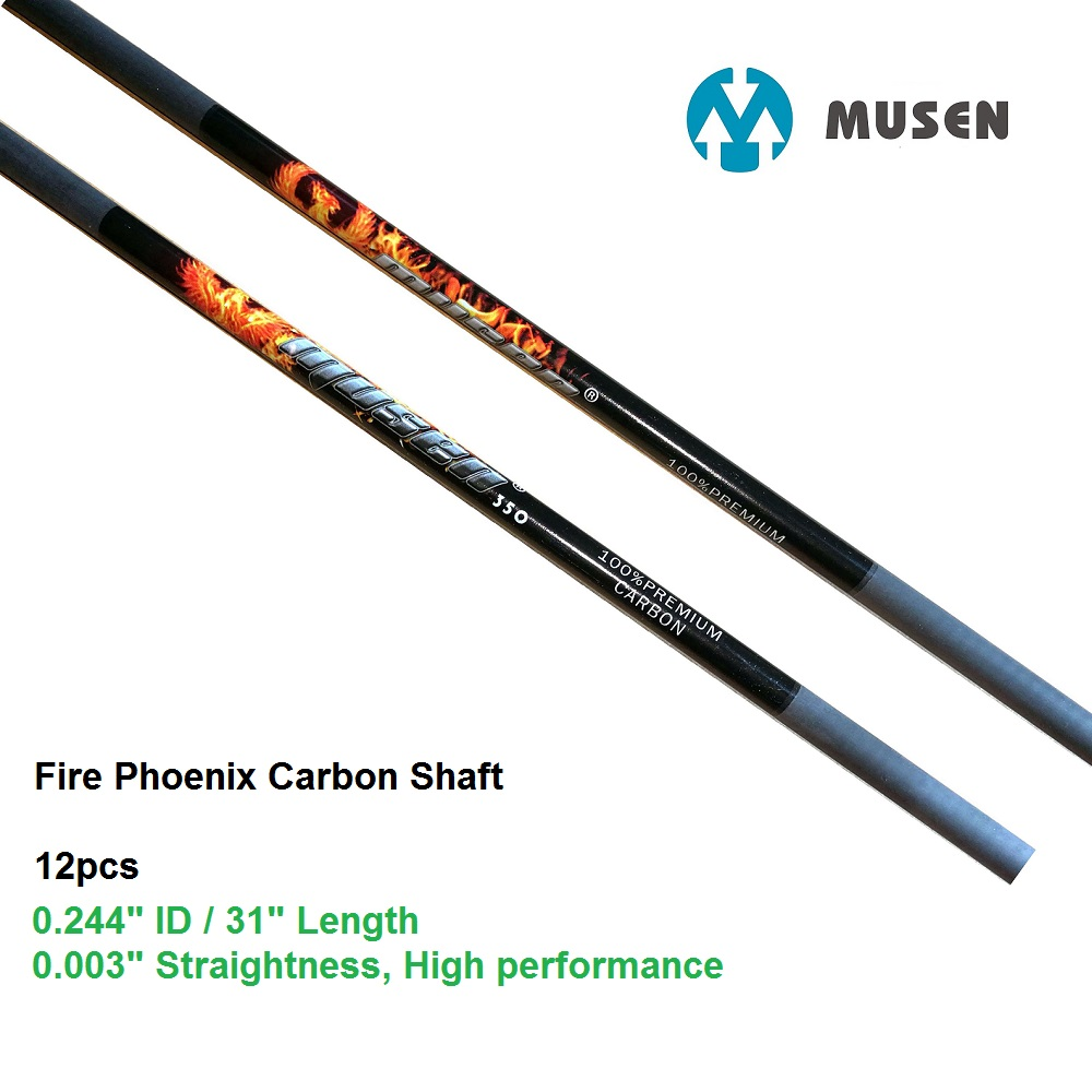 6/12 Pcs/lot Top Pure Carbon Huntign Arrow Shaft With  ID0.245