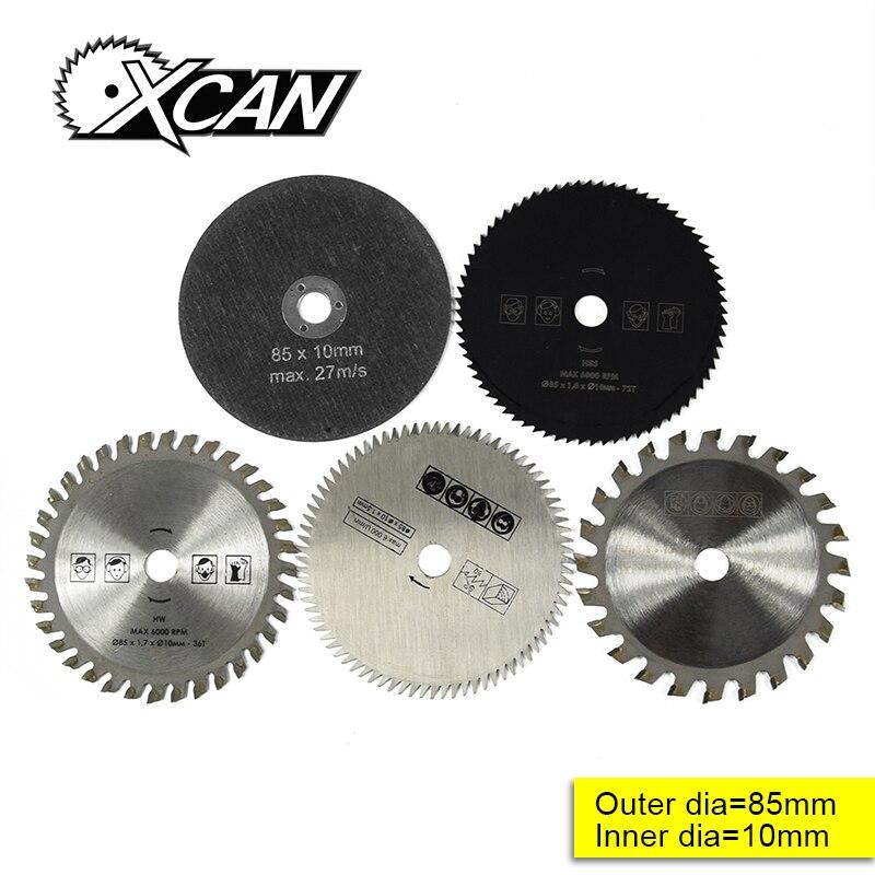 5 piezas 85mm herramienta de corte Sierra para Multi-función herramienta eléctrica sierra circular diámetro 10mm