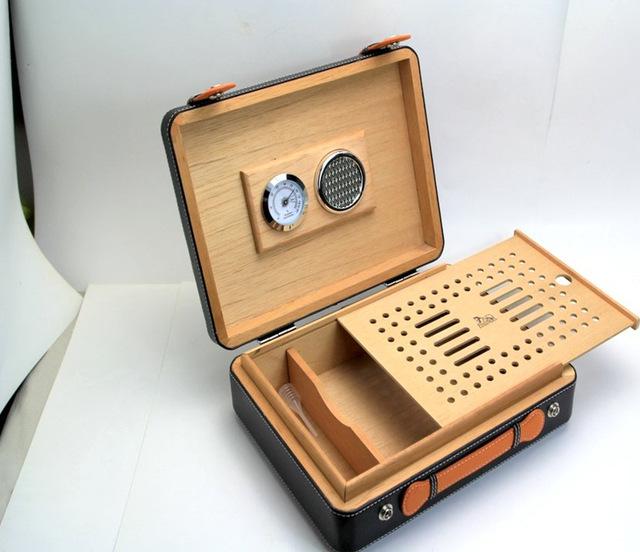 Cigar Case Humidor Suitcase Handbag Model Cedar Wood