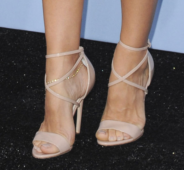 e7a9d3894d3 Celebrity name brand nude patent leather cross strappy high heel sandals  thin heel wrapped h eel ankle strap open toe pumps