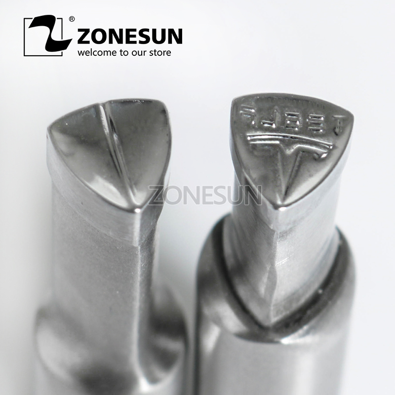 ZONESUN T logo sugar tablet press 3D Punch Mold Candy Milk Punching Custom Logo For punch die TDP 0 /1.5/3 Machine FREE SHIPPING