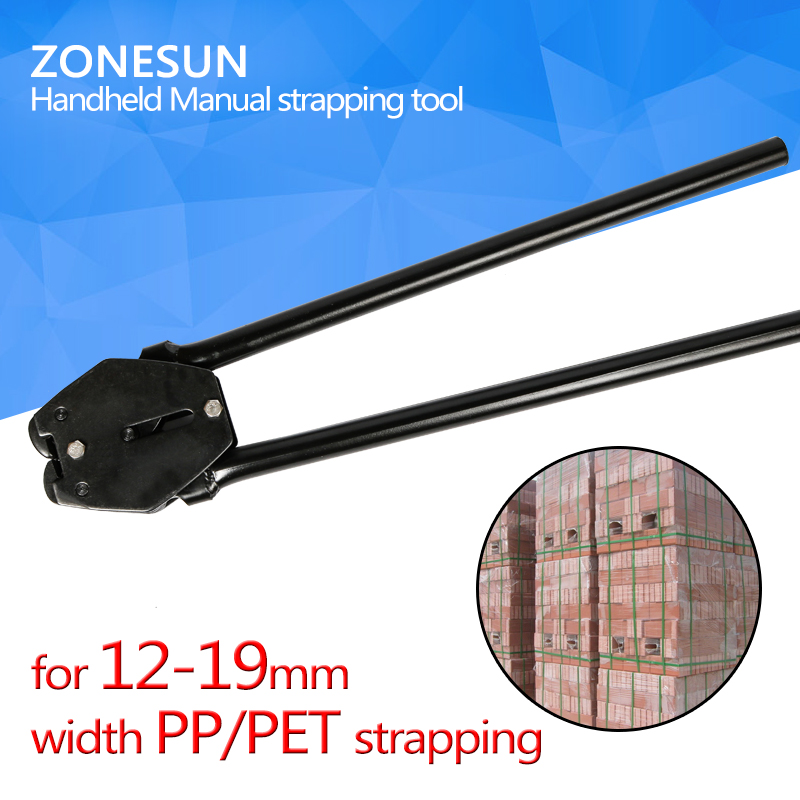 ZONESUN  Handheld Manual strapping tool,strapping sealer, for 12-19mm width pp strapping and pet strapping