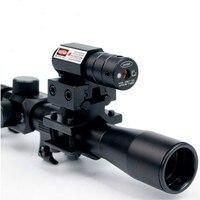Zakres Optyka z Red Laser Widok powietrza Combo z 11mm Luneta 4*20 Kusza Zakres góra na 22 Kalibru Airsoft