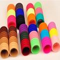 50 UNIDS Braiders Styling Accesorios Elásticos Del Pelo Del Pelo Del Tocado de Color Caramelo Goma Acessorios Para Cintas para el Pelo