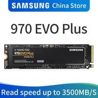 Samsung 970 EVO PLUS M.2 SSD 250 ГБ 500 1 ТБ nvme pcie Внутренний твердотельный жесткий диск HDD жесткий диск дюймов ноутбука, настольного компьютера MLC тормозной ...