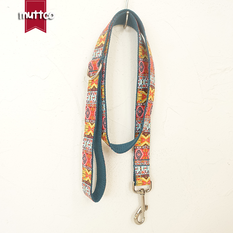 20pcs/lot MUTTCO wholesale self-design modern serviceable dog leash THE BOHEMIAN national style dog leashes 5 sizes UDL050