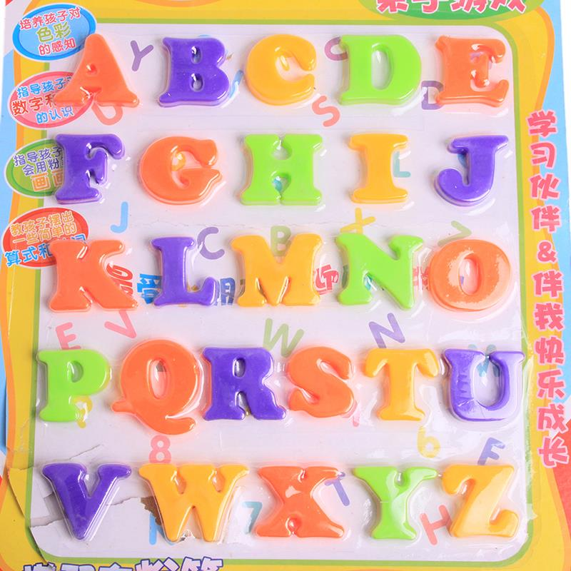 cute letternumber baby kids children lovely alphabet refrigerator fridge magnets stick figure educational learn toys zq874169
