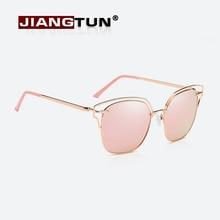 JIANGTUN 2017 Fashion Women Retro Round Sunglasses Polarized Lady Metal Hollow Frame Sunglasses UV400 Oculos De Sol Feminino