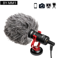BY MM1 Video Record Microphone Compact VS Rode VideoMicro On Camera Recording Mic for iPhone X 8 7 Huawei Nikon Canon DSLR