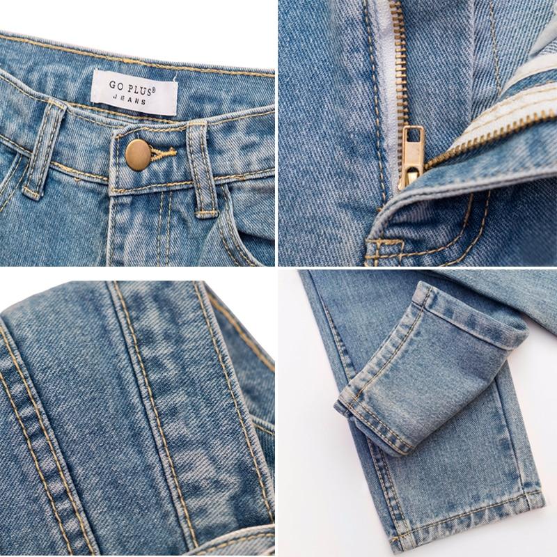 Vintage High Waist Jeans Full Length Cowboy Denim Pants 4