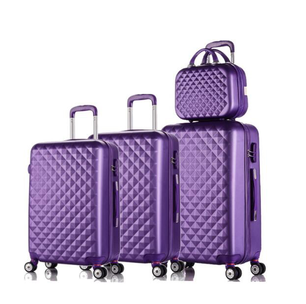 Travel tale spinner Дорожный чемодан из АБС набор жесткие стороны багажная сумка на колесиках комплекты одежды 3 предмета в комплекте - Цвет: dark purple a set