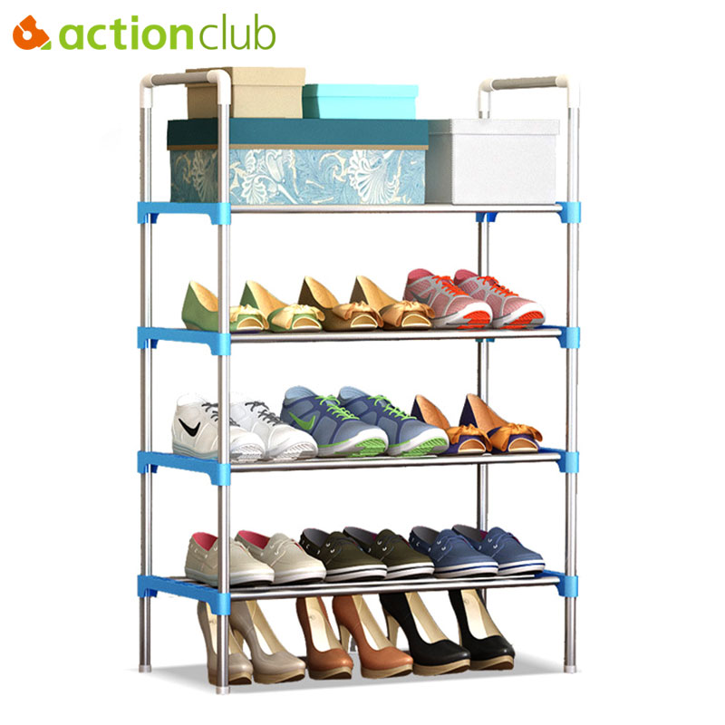 Discount Kitchen Cabinets Nh: Actionclub Simple Multi Layer DIY Assembly Metal Iron Shoe
