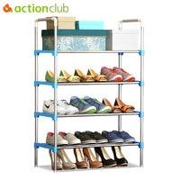 Actionclub Simple Multi Layer DIY Assembly Metal Iron Shoe Shelf Student Dormitory Shoe Storage Rack Large