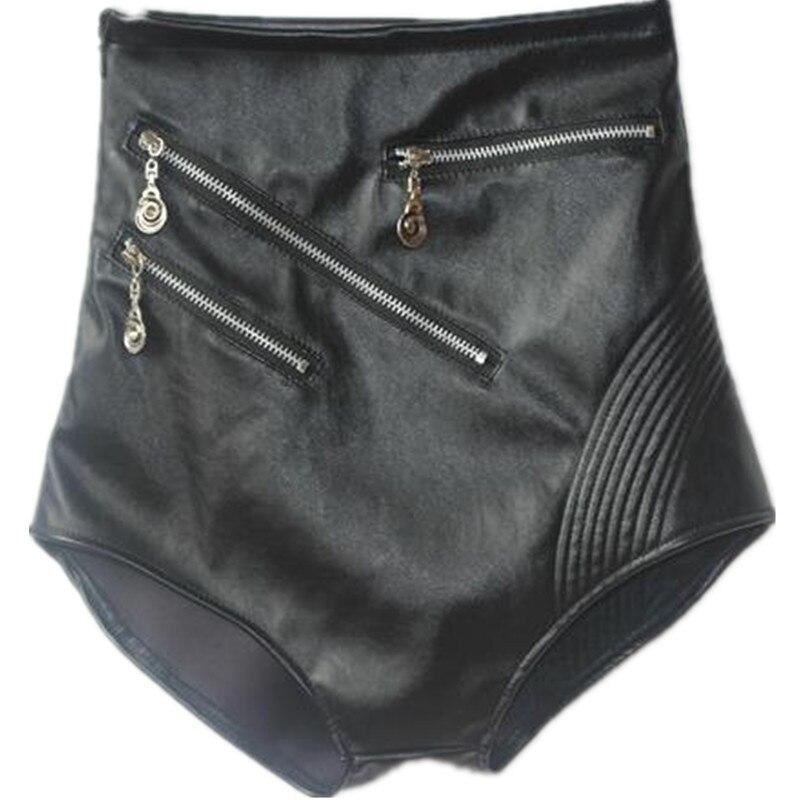 Women's Sexy  Pu Short High Waist Sexy Dance Black Short Pant