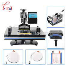1PC 6in1 30 38cm T shirt Swing Away Heat Press Machine Shaking Head Heat Transfer Sublimation