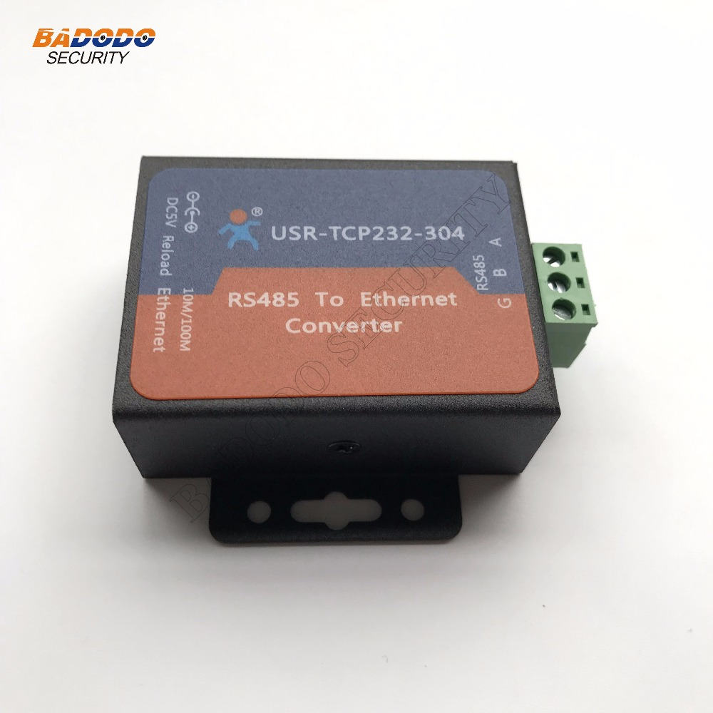 Security & Protection Adaptable Industrial Automation Data Transmission Serial Port Rs485 To Ethernet Converter Usr-tcp232-304 Dhcp/dns Supported High Quality Materials