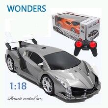 Новое прибытие! супер Гоночный Автомобиль Rc Скорость Дистанционного Управления Спортивных Автомобилей 1:18 Двигателя Рождественский Подарок Ребенку игрушку