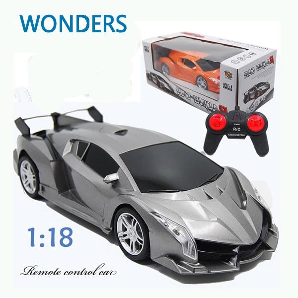 Новое поступление! Супер гоночный автомобиль RC скорость на радиоуправлении спортивный автомобиль 1:18 двигателя Рождественский подарок ребенку игрушку