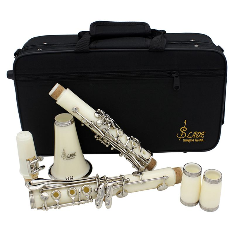 XFDZ SLADE Clarinet ABS 17 Key bB Flat Soprano Binocular Clarinet with Cork Grease Cleaning Cloth Gloves 10 Reeds Screwdriver R excellence bb soprano clarinet bell ebony