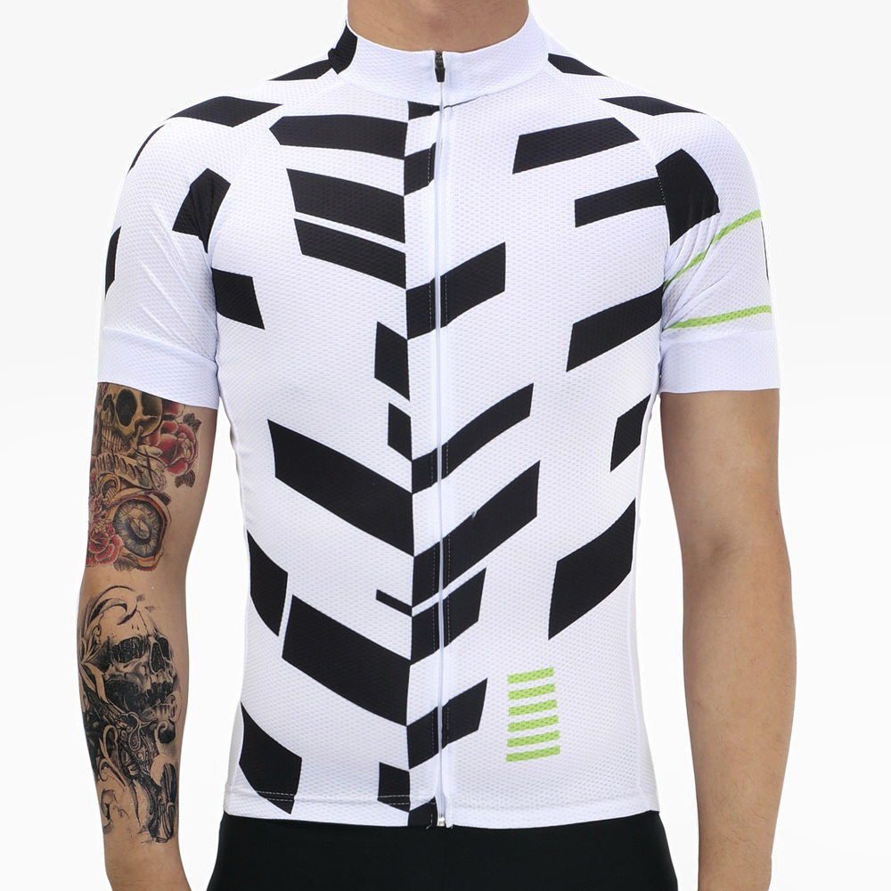 Brand New Mans whit & Black Racing Bike Pro Team Ciclismo Camisa Ropa - Ciclismo