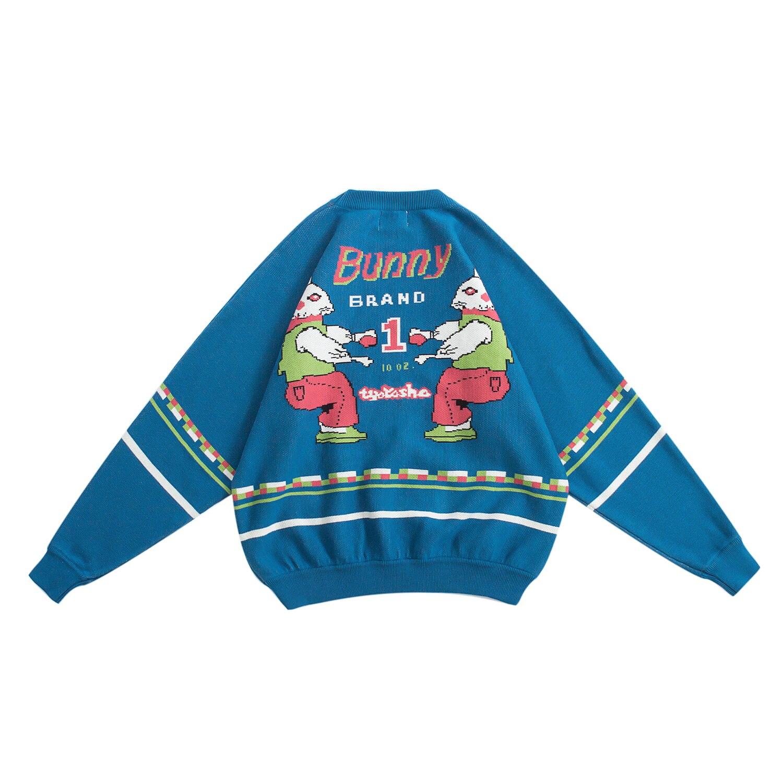 Herbst Frauen Pullover Pullover Bunny Buchstaben Frauen Verdicken Übergroßen Gestrickte Tops Mode Design Hohe Qualität Winter Pullover-in Pullover aus Damenbekleidung bei  Gruppe 1