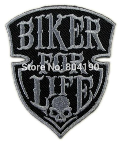 3 BIKER FOR LIFE Hog Rockers Racer Chopper Outlaw MC Motorcycle Biker Vest Patch Embroidered IRON