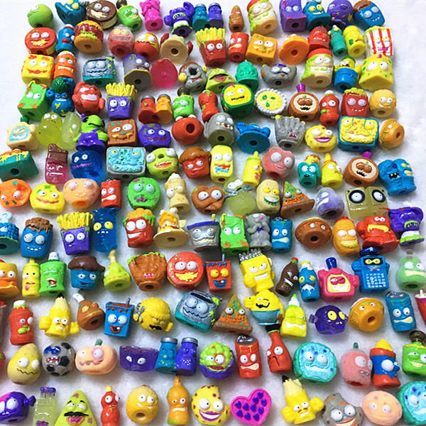 100Pcs/lot Popular Cartoon Anime Action Figures Toys HOT Garbage Moose The Grossery Gang Model Toy Dolls Kids Christmas Gift