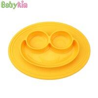Babykin Món Ăn BPA FREE Siêu Hút Y Tế Cấp Silicone Kid Trẻ Em Bộ Đồ Ăn Bowl cho Bé Sơ Sinh Ăn