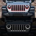 Для Jeep Wrangler JL 2018 2 шт. Высокое качество ABS Хром Передняя фара противотуманная фара крышка отделка Аксессуары для стайлинга автомобилей