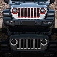 Para jeep wrangler jl 2018 2 pçs de alta qualidade abs chrome frente do carro farol nevoeiro lâmpada capa guarnição estilo do carro acessórios Cúpulas p/ abajur     -