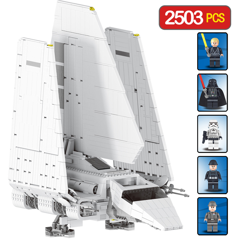 2503 PCS Technic Star Wars Series Compatible LegoINGLYS Space Fighting Imperial Shuttle Large Building Blocks Toys for Children space series discovery space shuttle bricks toys mini children educational building blocks toys compatible legoed