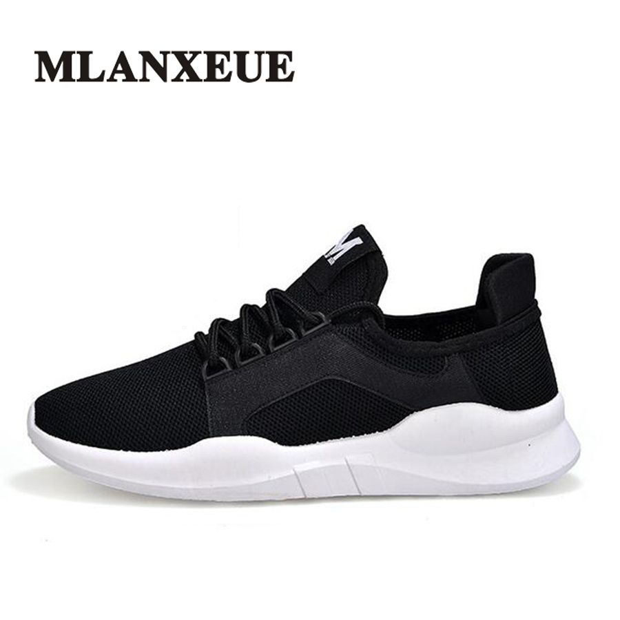 Mlanxeue Men Fashion Casual Shoes Lovers Unisex Mesh Light Breathable Comfortable Lace-up Spring Autumn Shoe Size 35-44 men s shoes fashion breathable air cushion casual shoes men lace up red blue spring autumn walking jogging shoes mens trainers