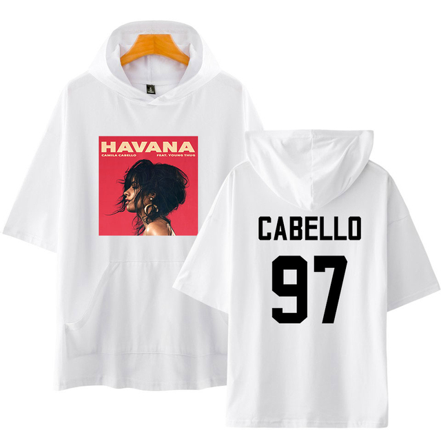 CAMILA CABELLO SHORT SLEEVE THEMED HOODIE (20 VARIAN)