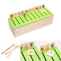 Wood Kid Cognitive Puzzle Domino Toy Wooden Classification Box Child Early Educational Parent Children Game Montessori