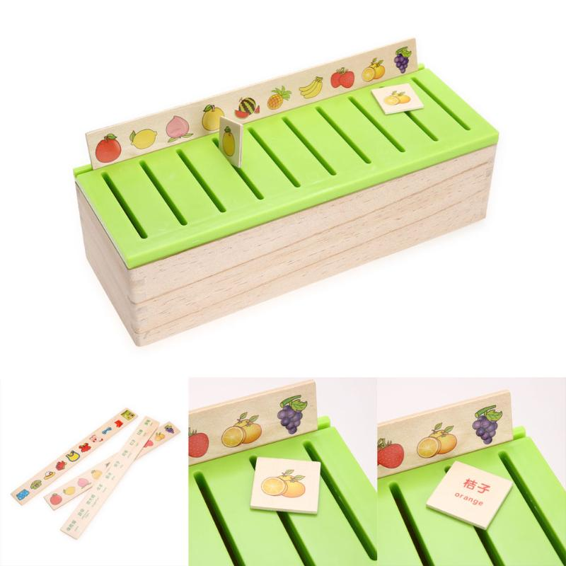Wood Kid Cognitive Puzzle Domino Toy, Wooden Classification Box Child Early Educational Parent-Children Game Montessori Toy Gift kids wooden memory match stick chess game toy kids montessori educational block toys gift children early educational wood toy