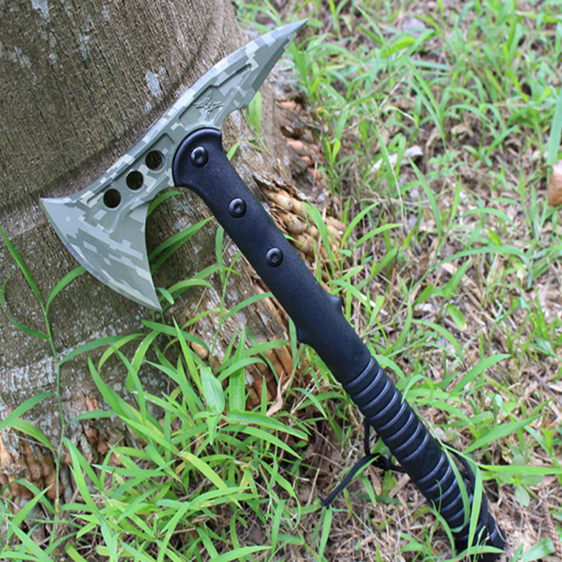 420HC Stainless Steel Outdoor Camouflage Axe Tactical Tomahawk Hunting Camping Survival Machete Axes Hand Tool Fire Hatchet best outdoor survival tomahawk axe tactical cold ice ax multifunction axes camping firefighting hand tool steel hatchet machete