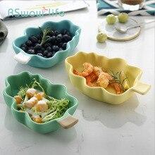 Ceramic Home Cute Creative Tree Shape Bowl Fruit Salad Snack Dessert Breakfast Kitchen Supplies