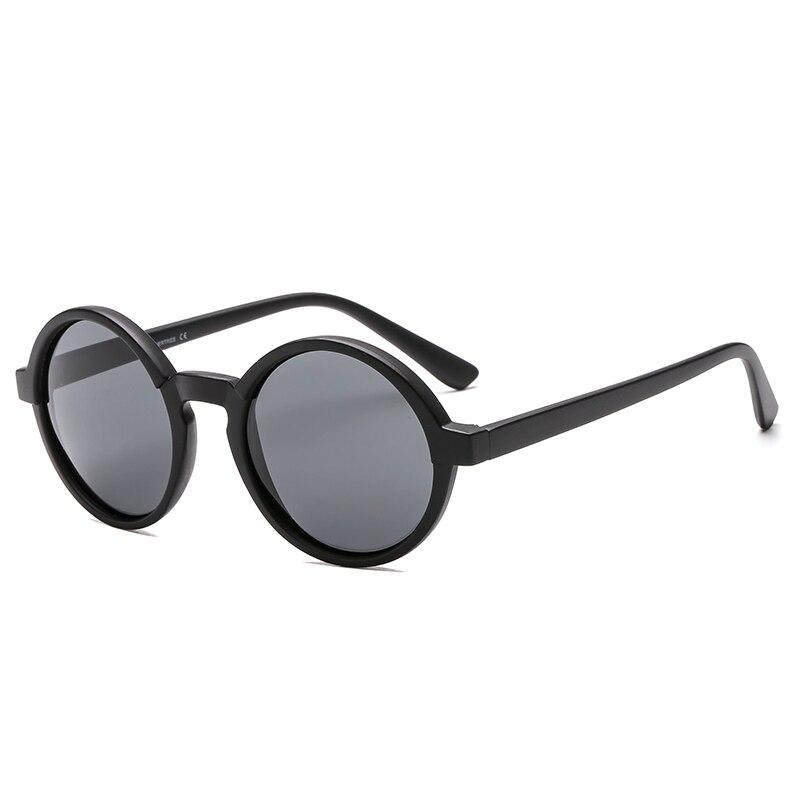 2018 New Arrival Fashion Sunglasses Polarized Vintage Sun Glasses Retro Women Men Small Round Shades for Vacation Black UV400