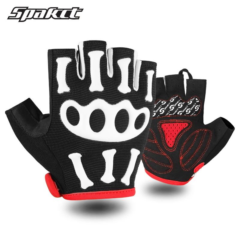 PRO Cycling Gloves Half Finger Bike Skeleton Glove Bicycle Pad Size M-XL Black