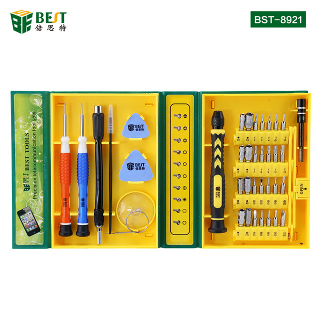 BEST-8921 38 in 1 Professional Hardware Repair Tools Kit For iPhone Ipad Laptop Tablet PC Versatile Precision Electronic Tool