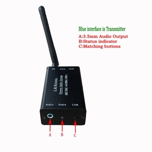 Image 2 - DC 5V 2.4G ISM HIFI Wireless Stereo Audio Transmitter Receiver 16Bit 44KSPS 5Mbps long distance Transmission Adapter