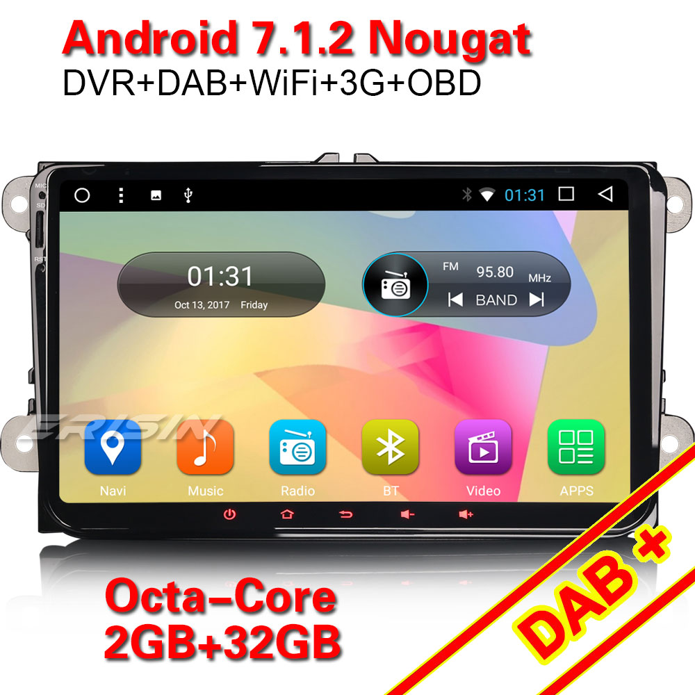 erisin es5498v 9 inch android 7 1 2 octa core car dvd. Black Bedroom Furniture Sets. Home Design Ideas