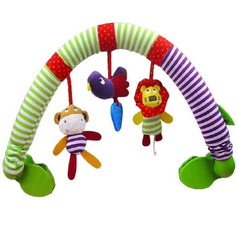 0-12 Måned Baby Mobil Musisk Seng Spill Barnevogn Dreiebenk Seat Ta - Baby og småbarn leker - Bilde 3