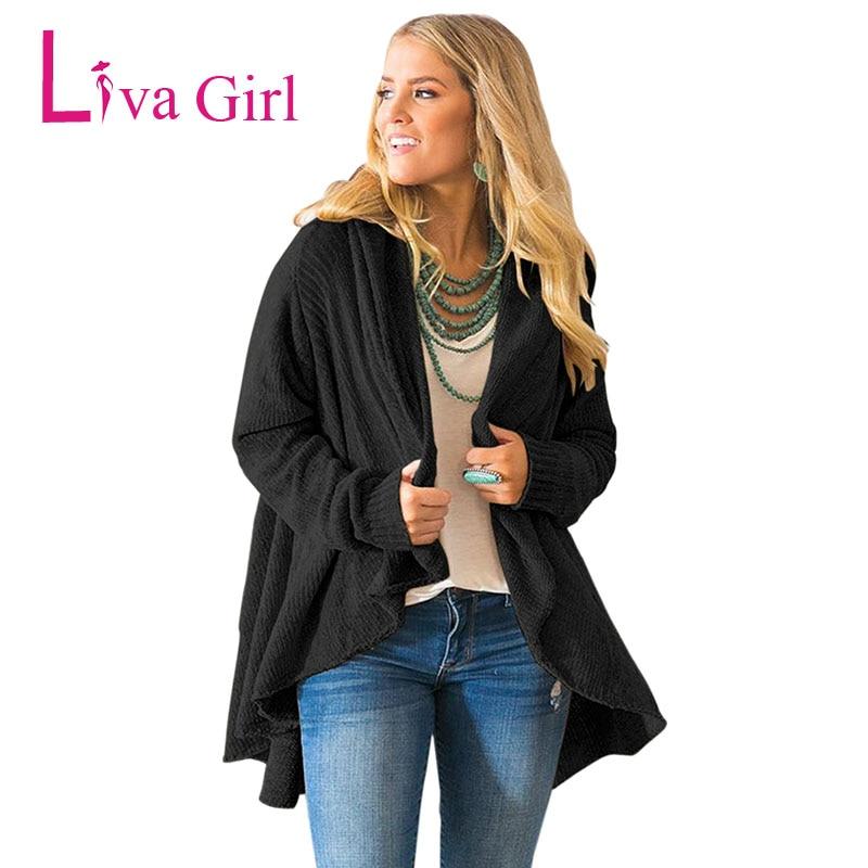 LIVA fille hiver veste décontractée Cardigans tricotés femmes automne à manches longues Chenille noir chandails bref drapé Sueter Mujer XXL - 6