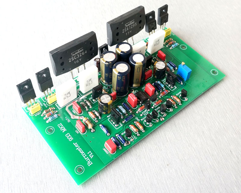 One Pair Assembled 2SA1295 2SC3264 Power Amplifier Board Base On Burmester 933 circuit Two Channels цена